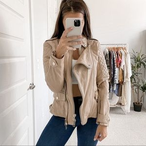 Burberry Remington Quilted Leather Biker Jacket